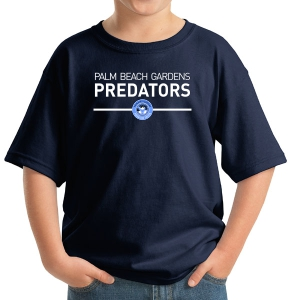 PBG Predators Youth Logo T-Shirt - Navy 5000B-PBGL