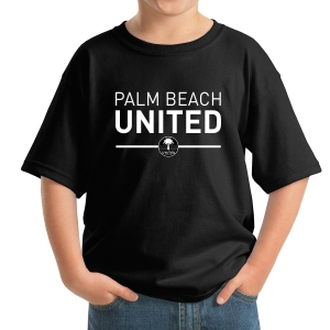 Palm Beach United Youth T-Shirt - Black PBU-5000Blk