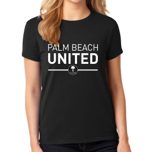 Palm Beach United Women's T - Shirt - Black PBU-G5000L
