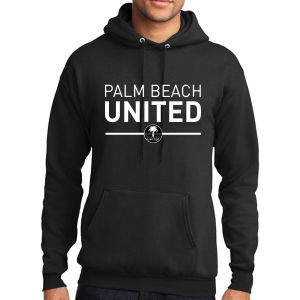 Palm Beach United Hooded Sweatshirt - Black PBU-PC78H