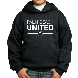 Palm Beach United Youth Hooded Sweatshirt - Black PBU-PC90YH
