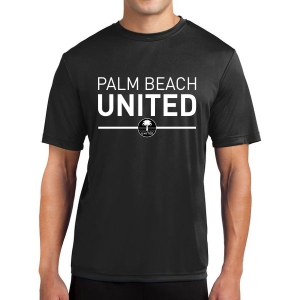 Palm Beach United Short Sleeve Performance Shirt - Black PBU-ST350BLK