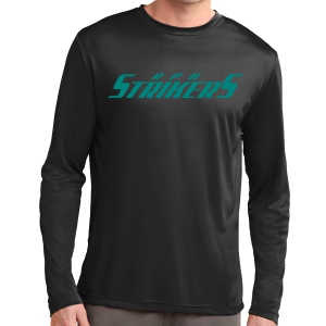 RPB Strikers Long Sleeve Performance Shirt - Black ST350LS-RPB