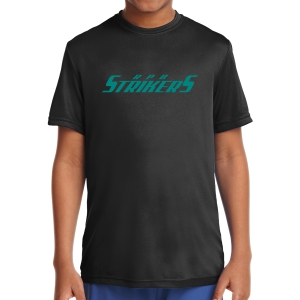 RPB Strikers Youth Short Sleeve Performance Shirt - Black YST350-RPB