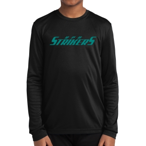 RPB Strikers Youth Long Sleeve Performance Shirt - Black YST350LS-RPB