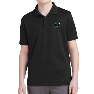 RPB Strikers Youth Polo Shirt - Black YST640-RPB