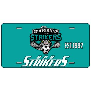 RPB Strikers Custom License Plate LCPLT-RPB