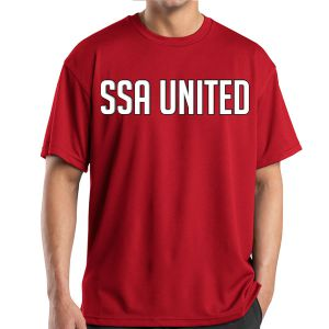 SSA United Short Sleeve Performance Shirt - Red SSAPerTee