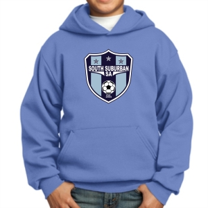 South Suburban Soccer Academy Youth Hooded Sweatshirt - Light Blue SSSA-PC90YH-LB