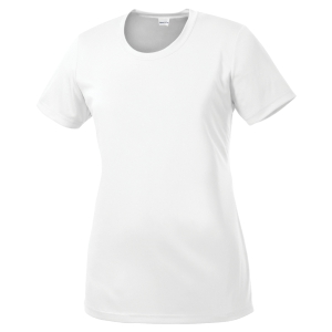 Sport Tek Women's Performance Shirt - White LST350-Whi