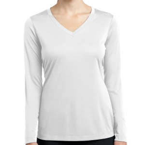 Sport Tek Women's Long Sleeve Performance Shirt - White LST353LS-Whi