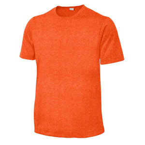 Sport Tek Youth Heather Contender Tee - Deep Orange Heather YST360-ORNG