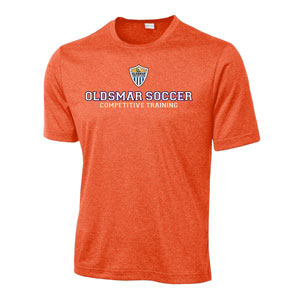 Oldsmar Soccer Club Sport Tek Heather Contender Training Top - Deep Orange Heather ST360-OSC