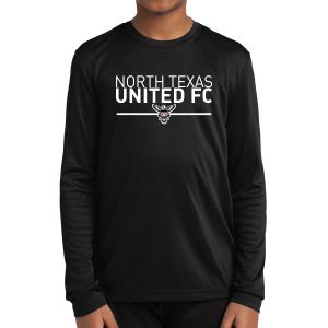 Texas United FC Youth Long Sleeve Performance Shirt - Black YLST350Blk