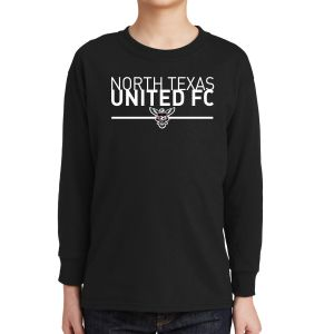 Texas United FC Youth Long Sleeve T-Shirt - Black 5400Blk
