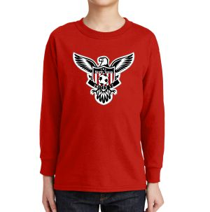 Texas United FC Youth Long Sleeve Logo T-Shirt - Red 5400BLRd