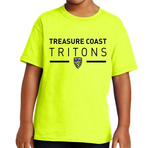 Treasure Coast Tritons Youth T-Shirt - Neon Yellow TCT-5000B-NY