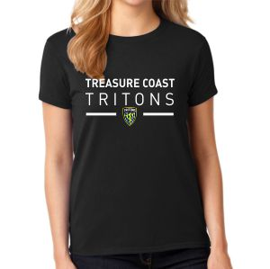 Treasure Coast Tritons Women's T-Shirt - Black TFT-G5000L