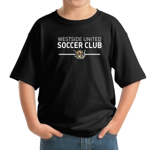 West Side United Youth T-Shirt - Black  WSU-5000B