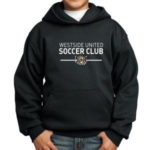West Side United Youth Hooded Sweatshirt - Black WSU-PC90Yh