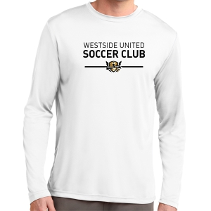 West Side United Long Sleeve Performance Shirt - White WSU-ST350LSWhi
