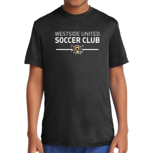 West Side United Youth Performance Shirt - Black WSU-YST350