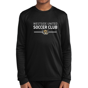 West Side United Youth Long Sleeve Performance Shirt - Black WSU-YST350LS
