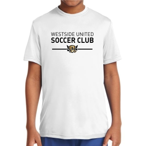 West Side United Youth Performance Shirt - White WSU-YST350Whi