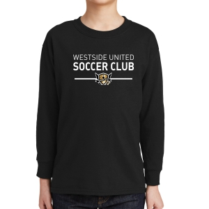 West Side United Youth Long Sleeve T-Shirt - Black WSU-5400B