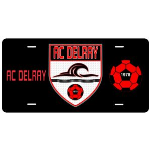 AC Delray Custom License Plate AC-LCPLT