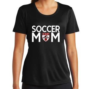 Ac Delray Women's Soccer Mom Performance Shirt - Black LST350-ACD