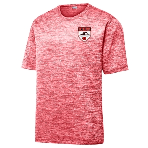 AC Delray Heather Performance Shirt - Deep Red/Electric ST390-ACD