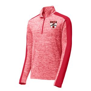 AC Delray 1/4 Zip Pullover Top - Red ST397-ACD