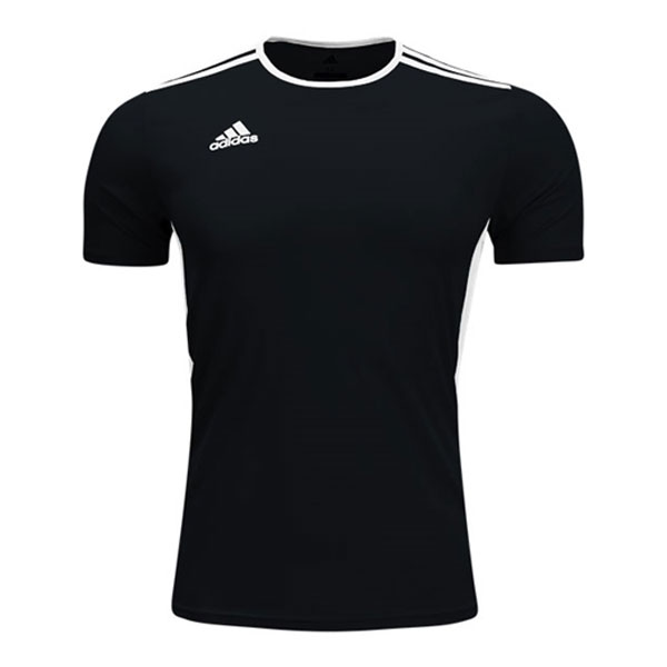 adidas Entrada 18 Jersey - Black/White CF1035 - AuthenticSoccer.com