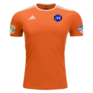 ISA adidas Entrada 18 Jersey - Orange/White ISA-CD8366