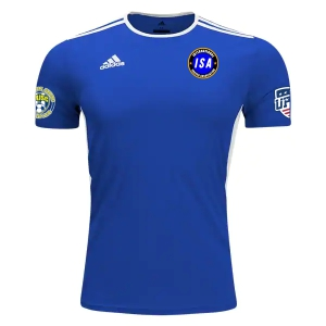 ISA adidas Youth Entrada 18 Jersey - Royal Blue/White ISA-CF1049