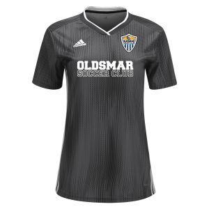 Oldsmar Soccer Club adidas Women's Tiro 19 Jersey - Dark Grey/White OMSC-DP3187