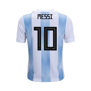 adidas Messi Argentina Youth Home Jersey 2018 BQ9288Messi