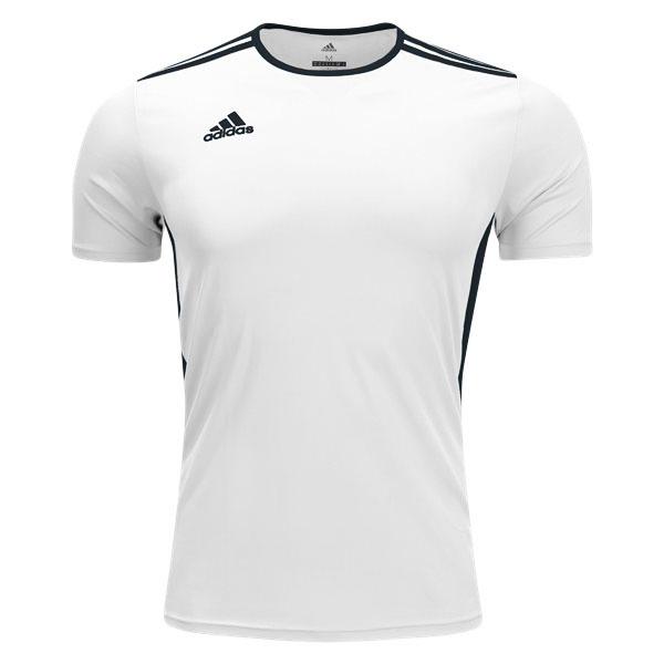 adidas Youth Entrada 18 Jersey - White/Black CF1044 ...
