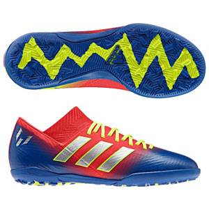 92c4370311c adidas Junior Nemeziz Messi Tango 18.3 TF - Active Red Football Blue Turf  CM8636