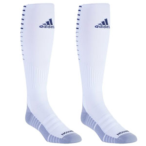adidas Team Speed II Soccer Sock - White/Navy 5145698