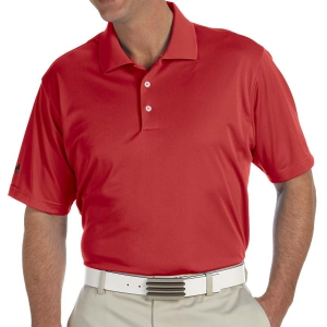 adidas Men's Basic Short Sleeve Polo - Red A130Rd