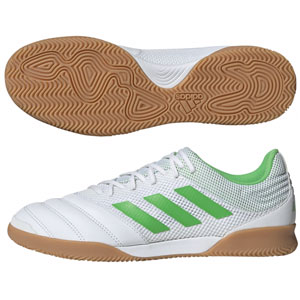 adidas Copa 19.3 Sala IN - White/Solar Green Indoor BC0559
