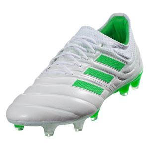 adidas Copa 19.1 FG - Cloud White/Solar Lime BB9186