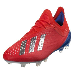 adidas X 18.1 FG - Active Red/Metallic Silver/Bold Blue BB9347