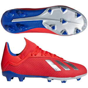adidas Junior X 18.3 FG - Active Red/Blue BB9371