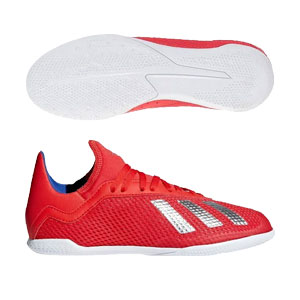 adidas Junior X 18.3 IN -Active Red/Silver Metallic Indoor BB9396