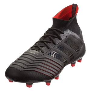 adidas Predator 19.1 FG - Core Black/Active Red BC0551