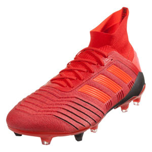 adidas Predators 19.1 FG - Active Red/Core Black BC0552