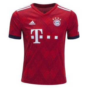 adidas Bayern Munich Youth Home Jersey 2018-2019 CF5429